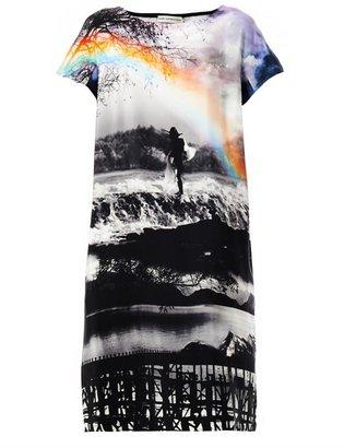 Mary Katrantzou Wisherman rainbow-print shift dress
