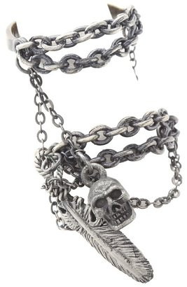 Obey Chained Craft Rings (Antique Silver) - Jewelry