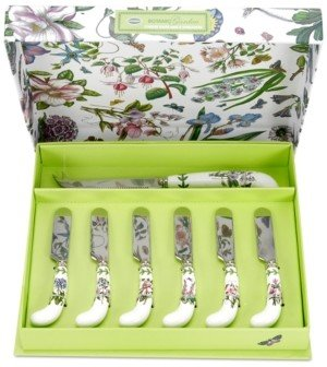 Portmeirion Botanic Garden Cheese Knife and Six Spreaders