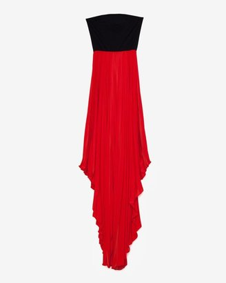 Alexis Exclusive Pleated Cascade Strapless Dress