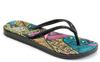 So ® textured sequined jelly flip-flops