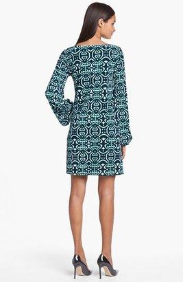 Laundry by Shelli Segal Printed Blouson Sleeve Shift Dress