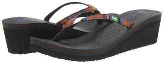 Sanuk Yoga Spree Funk Wedge (Rust) - Footwear