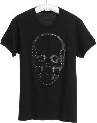 Lucien Pellat-Finet Leather Studs Skull Shirt