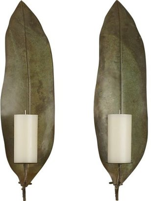 Crate & Barrel Frond Candle Sconce Set of Two