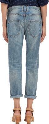 Current/Elliott Women's The Boyfriend Crop Jeans-Blue