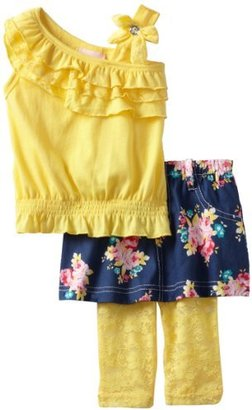 Little Lass Baby-Girls Infant 3 Piece Smocked Skirt Set