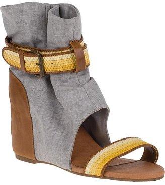 8020 Molly Wedge Sandal Heather Grey Fabric
