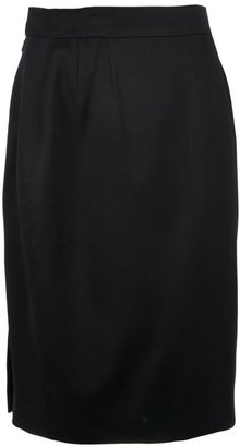 Chanel button detailed pencil skirt
