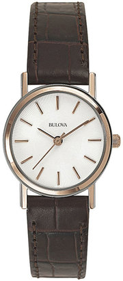 Bulova Womens Classic Brown Leather Strap Watch 98V31 $149.25 thestylecure.com