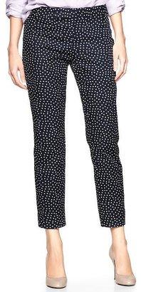 Gap Slim cropped refined dot pants