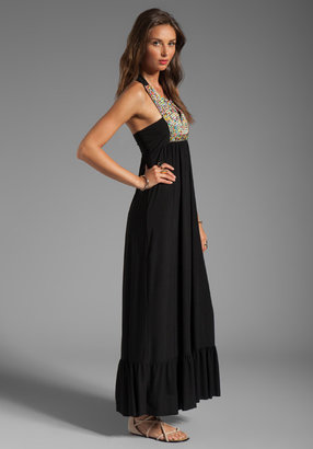 T-Bags LosAngeles Embellished Tribal Maxi Dress