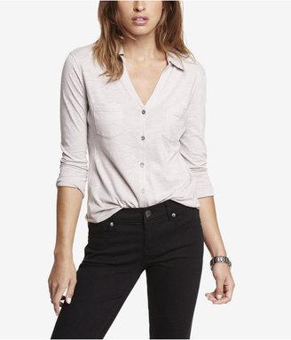 Express Slub Knit Two Pocket Shirt