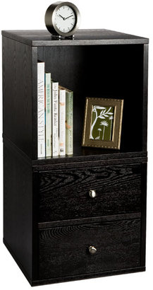 Container Store Premium Cube Bedside Table Ebony