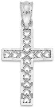 Macy's Cross Charm in 14k White Gold