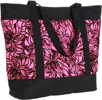 JanSport Emma Tote SE (Fluorescent Pink/Black Venus) - Bags and Luggage