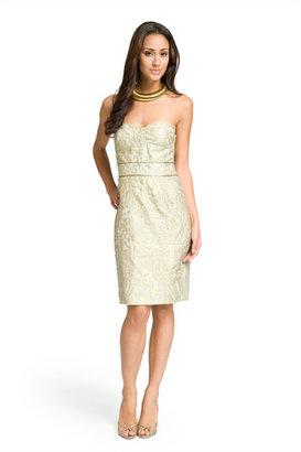Diane von Furstenberg Foil print strapless dress