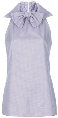 DSquared Dsquared2 checked bow neck top