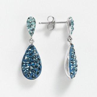 Swarovski Artistique sterling silver crystal teardrop earrings - made with elements