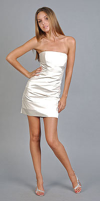 Laundry by Shelli Segal Short White Dress from