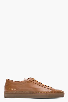 Common Projects Brown Leather Original Achilles Sneakers