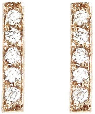 Jennifer Meyer diamond bar stud earring