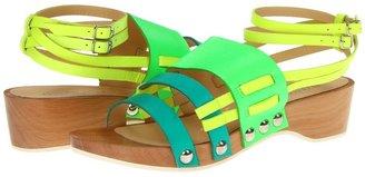 Nanette Lepore Bellini Sandal (Peacock/Neon Green/Neon/Yellow) - Footwear
