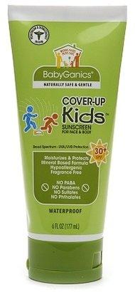 BabyGanics Cover Up Kids Sunscreen for Face & Body SPF 30+ Fragrance Free