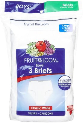 Fruit of the Loom Brief, 3 pk - White-Small