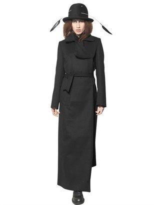 Ann Demeulemeester Virgin Wool Cashmere Cloth Coat
