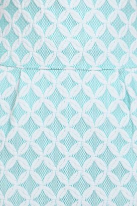 Phoebe Couture Phoebe Drop Waist Jacquard Dress in Mint