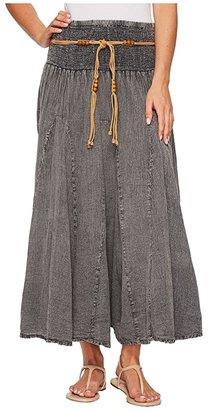 Scully Cantina Gar-Ye Skirt w/ Belt (Dark Blue) Women's Skirt