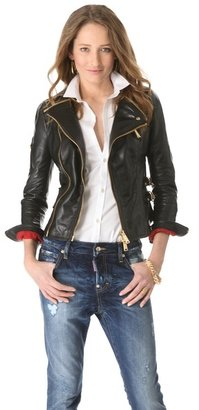 DSquared Dsquared2 Cher Lapierre Leather Jacket