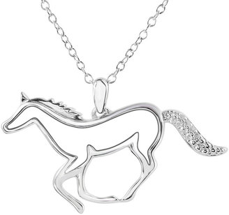 JCPenney FINE JEWELRY ASPCA Tender Voices Diamond-Accent Horse Pendant Necklace