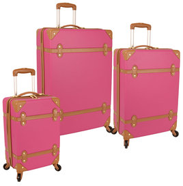 Saluti Hardside Spinner Luggage Set (Set of 3)