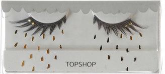 Topshop Gold Studded Eyelashes