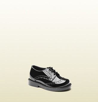Gucci Toddler Patent Leather Lace-Up Shoe