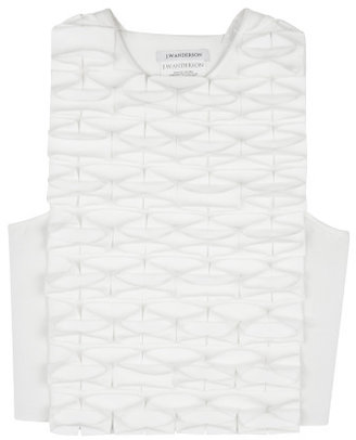 J.W.Anderson White Japanese Canvas Butterfly Top