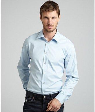 Prada sky blue stretch poplin dress shirt