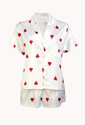 Forever 21 Dripping Hearts PJ Set