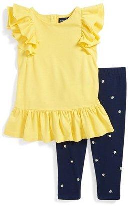 Ralph Lauren Ruffle Tee & Leggings (Baby Girls)
