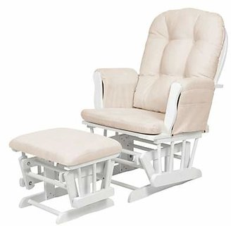 Kub Haywood Glider Nursing Chair and Footstool, White