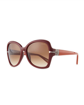 Lanvin Butterfly Gradient Sunglasses, Red-Brown
