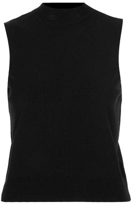 Topshop Knitted Sleeveless Funnel Top