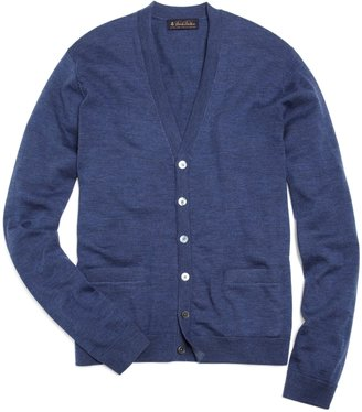 Brooks Brothers Merino Wool Button-Front Cardigan