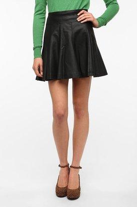 Sparkle & Fade Vegan Leather Circle Skirt