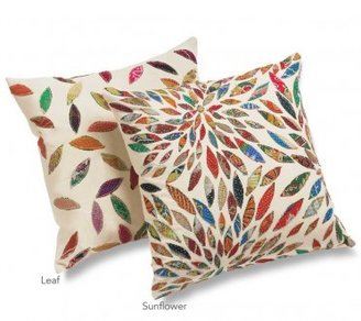 Viva Terra Sunflower and Floating Leaf Pillow Covers