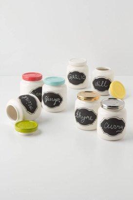 Anthropologie Chalkboard Spice Jar