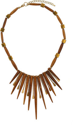 Topshop Wooden Spike Collar Necklace