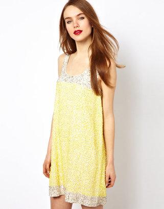 French Connection Embellished Sleeveless Dress